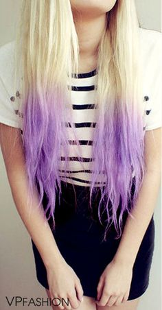 Purple Dip Dye  (use code 'saravp' for $10 off.) #haircolor