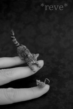 Cat+and+Mouse+Miniature+Handmade+Sculpture+by+ReveMiniatures.deviantart.com+on+@DeviantArt