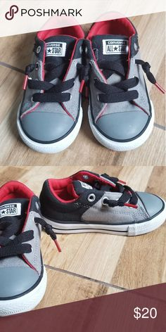 efec12aee1 Shop Kids  Converse Gray Red size Sneakers at a discounted price at  Poshmark. Toddler size like new!