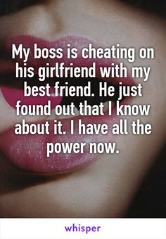 My boss is cheating on his girlfriend with my best friend. He just found out…