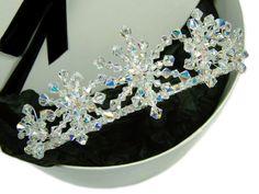 Frozen Crystal Snowflake Bridal Tiara by BeautifulBeau