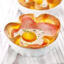 Pizzettes oeuf/jambon