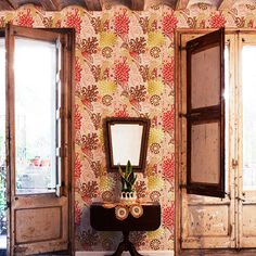 The enchanting, colorful world of designer Catalina Estrada is coming to life in her new wallpaper collection from coordonné. Catalina Estrada, Wallpaper Collection, Home Design, Interior Design, Design Ideas, Deco Boheme, Piece A Vivre, New Wallpaper, Amazing Wallpaper