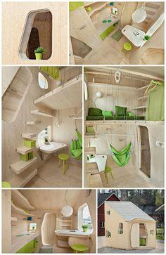 Деревянный дом: жилая ячейка для студента, 10 м2