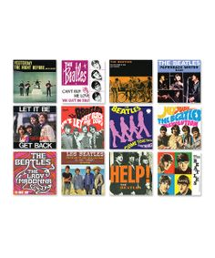 The Beatles album art magnets. This might be the first time all these albums have come together...right now...over me.