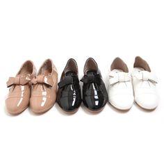 3 color enamel ribbon loafers  $22.55