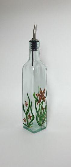 SOLD! Tablecraft Olive Oil Glass Bottle or Soap by KitchenBarHomeDecor
