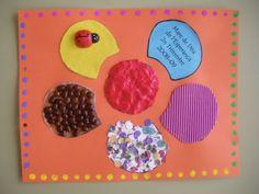 Tapa álbum escolar flor. Trabajar las texturas de los materiales