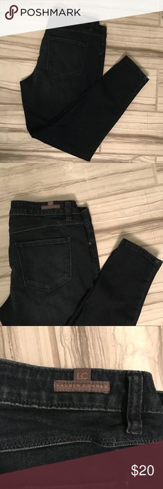 NWOT - LC Lauren Conrad Dark Denim Jean Leggings NWOT - dark denim (super cozy) jeggings. Size 8   PRODUCT FEATURES Slight wiskering details 4-pockets Stretchy denim construction  FiT & SIZING 29-in. inseam Midrise sits above the hip Zipper fly  FABRIC & CARE Cotton, rayon, spandex, polyester Machine wash LC Lauren Conrad Jeans Skinny