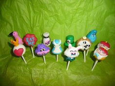 12 Specialty Alice in Wonderland Cake Pops by RendezvousSweets, $28.20