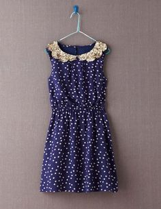 I've spotted this @BodenClothing Stella Dress Navy Blue Dotty