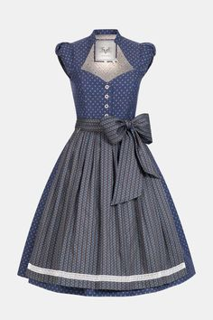 Dirndl Blum Thunder Blue   Dirndl   Damen   CocoVero Trachten München Punch Rose, Magenta, Vintage, Formal Dresses, Grey, My Style, Blue, Red Wood, Emblem