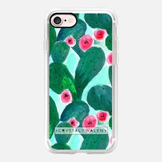 Jade Cactus Bloom Watercolor Paddle Cacti by Crystal Walen Phone Cases Iphone6, Slim Iphone Case, Cool Iphone Cases, Mobile Phone Cases, Iphone 7 Plus Cases, New Iphone, Iphone Case Covers, Apple Iphone, Cactus