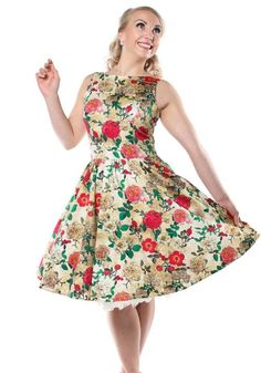 Antique Rose Tea, dress by Lady Vintage  http://www.misswindyshop.com #dress…