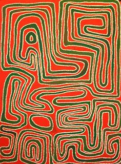 Jimmy Mawukura Mulgra Nerrimah, Untitled, 2005, 76 x 56 cm. Coo-ee Aboriginal Art Gallery, Bondi Beach.