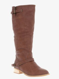 Buckle Zip Back Riding Boot (Wide Width)... I've never been plus sized but for 10+ years I've indulged in Torrid's awesome wide width shoes... I have high arches and wide feet, and have completely missed out on the riding boot trend over the years because I can't get my feet in boots!! These are knock offs, but who cares, I want to try them on!!
