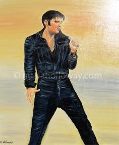 """Elvis - Memories Of The King"" by Nuala Holloway - Oil on Canvas (Commission / Inspired by Elvis Presley's 1968 Comeback Special) #Elvis #IrishArt #OilPainting"