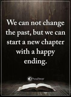 We can not change the past, but...