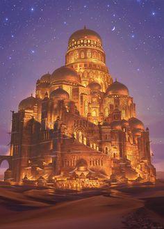 Fantasy City, Fantasy Castle, Fantasy Places, Fantasy Map, High Fantasy, Sci Fi Fantasy, Fantasy World, Fantasy Art Landscapes, Fantasy Landscape