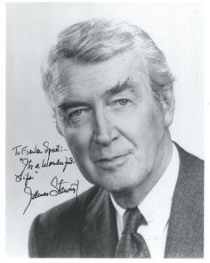 Jimmy Stewart Signed Autographed 8x10 Photo w/RARE It's a Wonderful Life inscription.