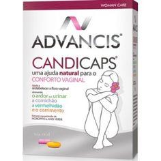 Advancis Candicaps Conforto Vaginal é um suplemento alimentar que ajuda no conforto vaginal. Advancis Candicaps ajuda a restabelecer a flora vaginal diminuindo o ardor ao urinar, a comichão, a vermelhidão e o corrimento.