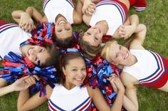 cheerleading.  for photography of kids