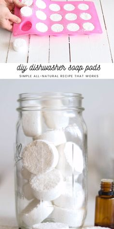 DIY Dishwasher Soap Pods These DIY dishwasher soap pods are simple to m. - DIY Dishwasher Soap Pods These DIY dishwasher soap pods are simple to make and work. Diy Home Cleaning, Homemade Cleaning Products, House Cleaning Tips, Natural Cleaning Products, Cleaning Hacks, Diy Hacks, Natural Cleaning Solutions, Natural Cleaning Recipes, Diy Products