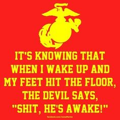 Haha so Andrew's attitude. He's so proud of being a Marine :) A.J.K. <3