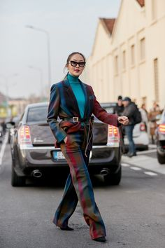 Milan Fashion Week Fall 2018 street style