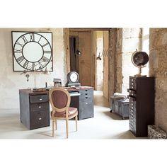 Schreibtisch aus massivem Sheeshamholz und Metall, B 165cm Industrial Industry | Maisons du Monde