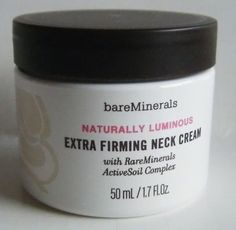 I know this one is a little pricey, but for many of the women using it, they won't go a day without it. Bare Minerals skincare extra firming neck cream. How do I use it: Massage over your neck and decollete in gentle, upward strokes. Use both morning and night for best results.
