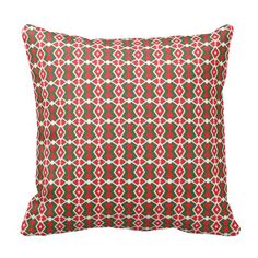 Holiday Geo 10 1 Throw Pillows