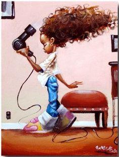 frank morrison frank morrison cutest kidz collection jpg blow dry from . Art Black Love, Black Girl Art, Black Is Beautiful, Art Girl, Black Girls, Natural Hair Art, Natural Hair Styles, Natural Baby, Art Afro Au Naturel