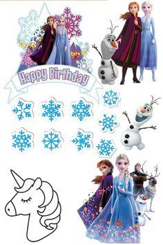 Frozen Cupcake Toppers, Frozen Cupcakes, Frozen Cake Topper, Frozen Crafts, Cake Logo Design, Birthday Activities, Frozen Theme, Disney Frozen Elsa, Frozen Birthday