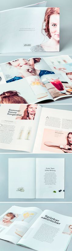 Simple with more text, pictures but with a beauty focus Editorial Layout, Editorial Design, Magazine Design, Catalogue Layout, Cosmetic Design, Catalog Design, Publication Design, Book Layout, Print Layout