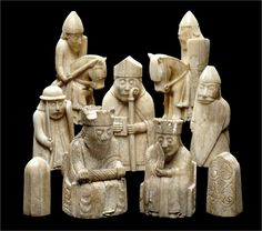 The Lewis chess pieces made from walrus ivory around the 12th century found in 1831 in Scotland and now on display in the British Museum in London and the National Museum of Scotland in Edinburgh. [1536 x 1354] from /r/ArtefactPorn