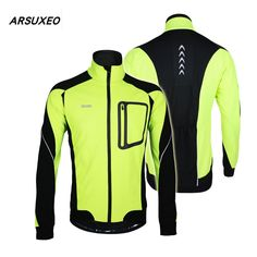 Windproof Cycling Jacket Winter Warm Thermal Cycling Long Sleeve Jacket Bicycle Clothing Windproof