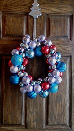 Ornament wreath.  Get ready for the holidays at Old Time Pottery!  http://www.oldtimepottery.com/