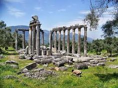 Olympia, Greece. The athletes trained here for the ancient Olympics, and where they light the Olympic flame for the modern Olympics.