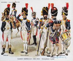 HM Historex NCO France Garde Imperiale Infanterie - Grenadiers and Chasseurs Lead Soldiers, Toy Soldiers, Military Art, Military History, First French Empire, War Drums, Army Uniform, Military Uniforms, French Army