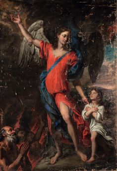 Giovanni Battista Merano, The Guardian Angel, Century Biblical Art, Religious Images, Cherub, The Guardian, 17th Century, Christianity, Catholic, Ascended Masters, Spirit Guides