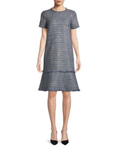 6c3526e50a Saria+Exhibition-Tweed+Shift+Dress+by+Lafayette+148+ · Bergdorf GoodmanLafayette  ...