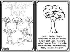 Arbor Day printable reader freebie