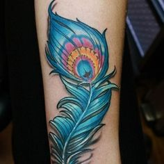 peacock feather tattoo 8