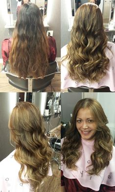 Look at those beautiful natural-looking boho waves on her hair by digital perm