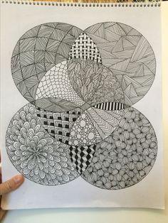 My Zentangle drawing Cute Doodle Art, Doodle Art Designs, Doodle Art Drawing, Zentangle Drawings, Doodle Patterns, Mandala Drawing, Zentangle Patterns, Art Drawings Sketches, Zentangles