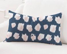 Pink Fabric, Floral Fabric, Decorative Pillow Covers, Throw Pillow Covers, Navy Pillows, Thing 1, Navy Blue Background, Custom Pillows, Lumbar Pillow