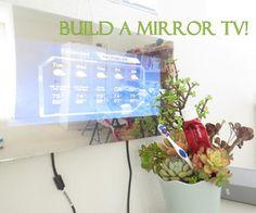 Build an Effortless Mirror TV! - http://www.instructables.com/id/Build-an-Effortless-Mirror-TV/?ALLSTEPS