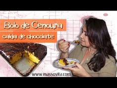 Receita Bolo Cenoura com cobertura de chocolate