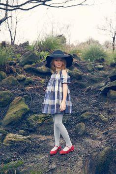 Nellystella Venessa Dress in Large Blue Plaid - 2016AW